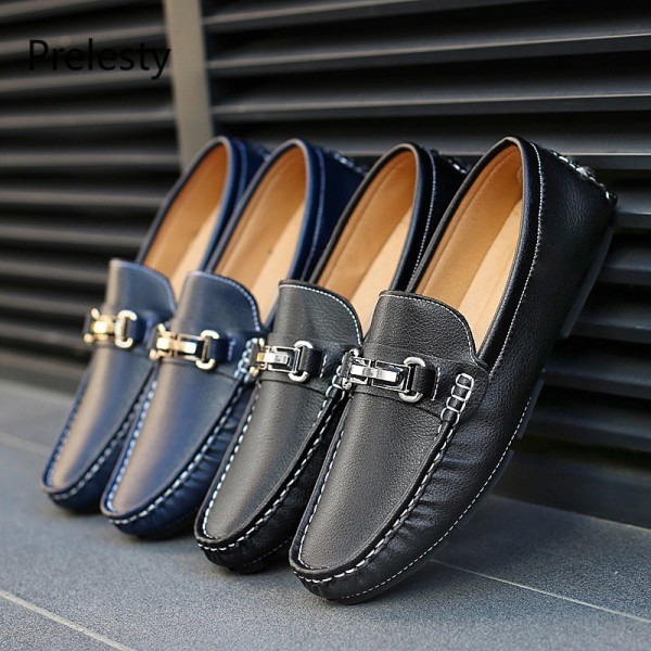 Mens Luxury Leather Lazy Shoes Size 39 ~ 48 Kl2934