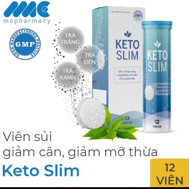 Viên sủi Giảm cân Keto Slim liệu trình 12 viên nhập khẩu
