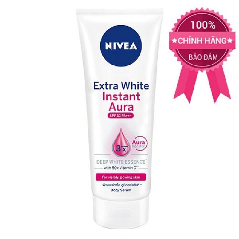 Tinh chất dưỡng thể và sáng da tức thì Nivea Extra White Instant Aura spf33 180ml sản phẩm tốt chất lượng cao cam kết như hình độ bền cao xin vui lòng inbox shop để được tư vấn