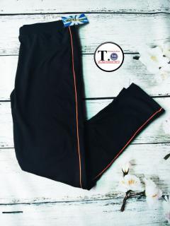 Quần thun nữ - legging (Ôm body,quần màu đen viền sọc màu Đỏ - Vàng chanh - Hồng -Tím - Xanh -Trắng) thumbnail