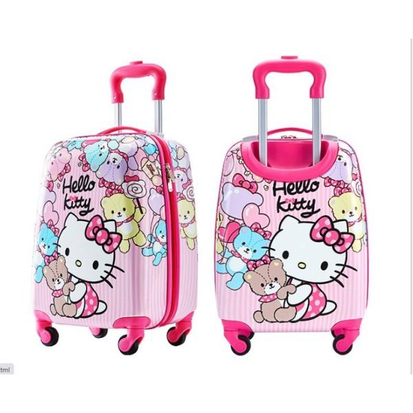 Giá bán Vali trẻ em (Kitty mèo- gấu) - kích thước 42x32x20 cm -hàng có sẵn (miễn order) - BẢO HÀNH 2 NĂM