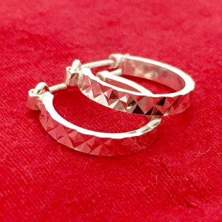Bông tai nữ Bạc Quang Thản kiểu khuyên tròn đeo sát tai phay sáng bóng chất liệu bạc thật không xi mạ - QTBT59 thumbnail