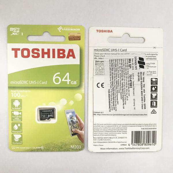 Thẻ nhớ micro SD toshiba 64GB M203 SDHC 100Mb/s full HD