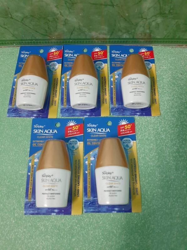 Combo 5 kem chống nắng SunPlay SKIN AQUA CLEAR WHITE 5g. nhập khẩu