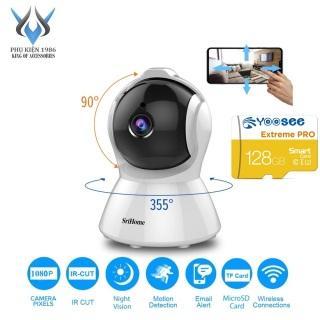 [HCM]Camera IP Wifi SriHome SH025 2MP FullHD 1080P xoay 355 độ (Trắng) - 4 phân loại tùy chọn - Phụ Kiện 1986 thumbnail