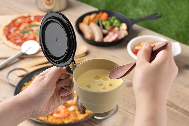 Cốc súp có nắp đậy 300ml ( kem) INOMATA NỘI ĐỊA NHẬT BẢN   Lazada.vn