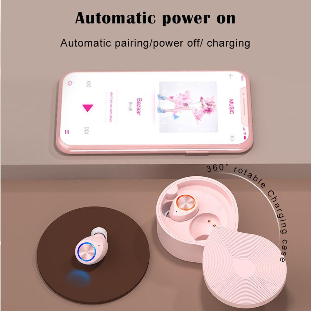 [Tai nghe chơi game] Bluetooth Headphone , 5.0 Tai Nghe Không Dây, HIFI Âm Thanh Nút Tai Nữ Mini TWS Cảm Ứng Âm Thanh Nổi Chơi Game Rảnh Tay Thể Thao Chống Nước TW70