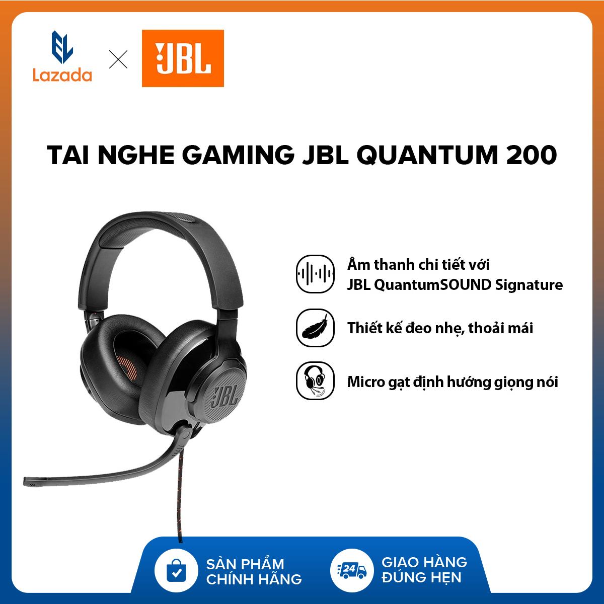 Deal Khuyến Mãi [VOUCHER 10% - HÀNG CHÍNH HÃNG] Tai Nghe Gaming JBL Quantum 200 L Công Nghệ JBL QuantumSOUND Signature L Driver 50mm L Đệm Tai Xốp Thoải Mái L Tương Thích đa Nền Tảng