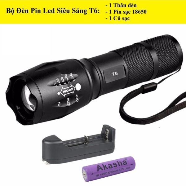 Den Bin Sieu Sang Police, Đèn Pin Siêu Sáng, Đèn Pin Police XMLT6 Nhật Bản, Tích Hợp Nhiều Chức Năng Soi Sáng, Nhỏ Gọn, Tiện Dụng.