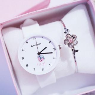 Đồng hồ thời trang nam nữ Candycat mặt trái dâu dây silicon MS446 thumbnail