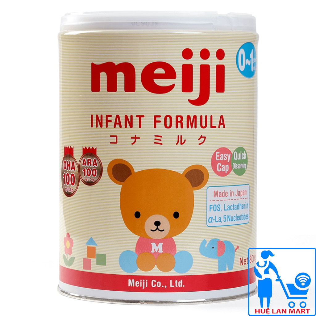 Sữa Meiji Infant Formula 800g – Nhập khẩu (0-12 tháng)