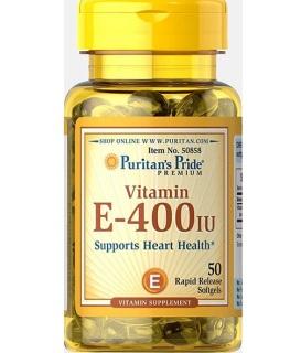 Viên uống vitamin E 400IU giúp làn da trẻ trung, căng bóng (HSD 28 3 2025) Puritan s Pride 50v thumbnail
