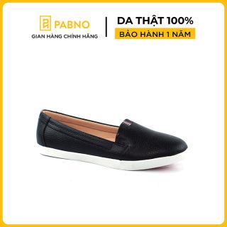 Giày lười da phối màu gót thương hiệu PABNO [BH 12 Tháng] - PN17001