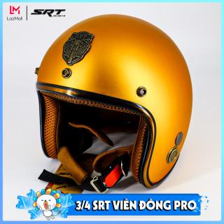 Mũ bảo hiểm 3 4 - viền đồng - SRT - BẢN PRO ĐỘC QUYỀN thumbnail