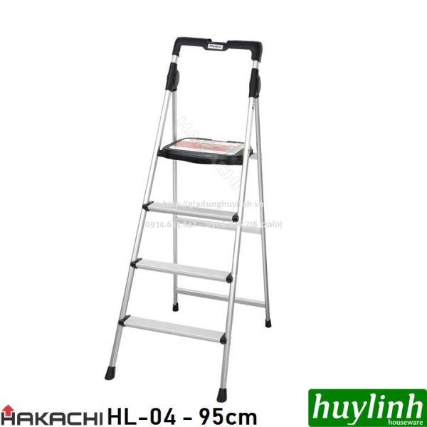 Thang nhôm ghế 4 bậc Hakachi HL-04 - 95cm