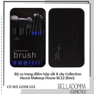 Bộ cọ trang điểm hộp sắt 8 cây Collection Vacosi Makeup House BC12 (Đen) thumbnail