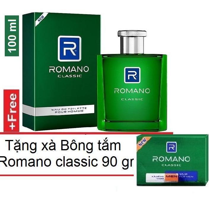 Nước Hoa cao cấp Romano Classic 100ml +Tặng kèm xà bông tắm Classic 90gr