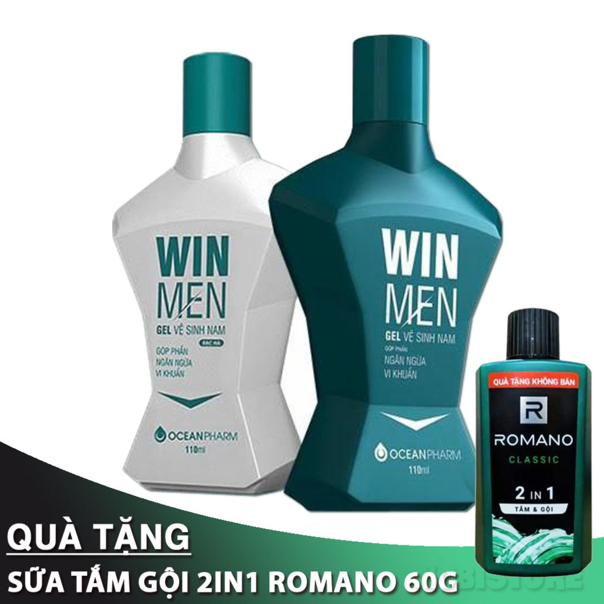 Gel vệ sinh nam Winmen - Hương bạc hà, hương quế - Dung dịch vệ sinh vùng kín nam giới