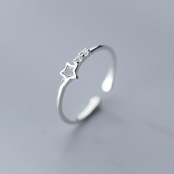 Nhẫn Bạc Nữ Cao Cấp|Nhẫn Bạc Nữ Hình Ngôi Sao N-2469 Bảo Ngọc Jewelry