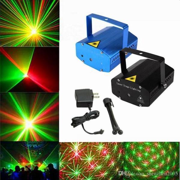 Đèn Chiếu Laser Vũ Trường Cảm Biến Âm Thanh. Đèn Chiếu Sao Trang Trí Mini Laser Stage Lighting. Đèn trang trí Noel ngày tết LASER MINI STAR SHOWER.