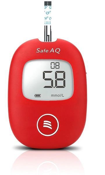 Nơi bán Bộ máy đo đường huyết Sinocare Safe AQ tặng 1 hộp 50 que thử đường huyết và hộp 50 kim chích máu ( Máy đo mg/dL)