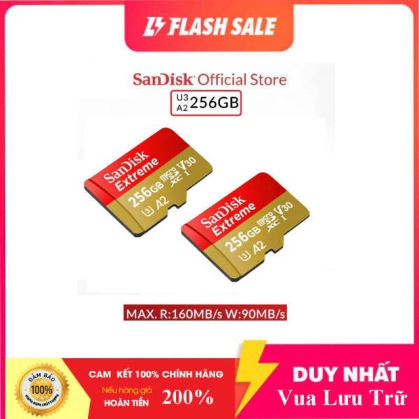 [New 2021] Thẻ Nhớ MicroSDXC SanDisk Extreme 256GB V30 U3 4K A2 R160MB/s W90MB/s - No Adapter (Vàng)