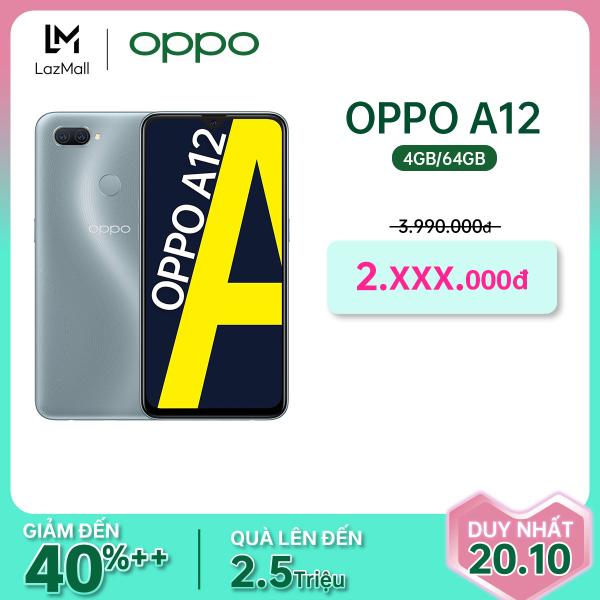 [ĐỘC QUYỀN MÀU MỚI] Điện thoại Oppo A12 (4GB/64GB) - Hàng chính hãng