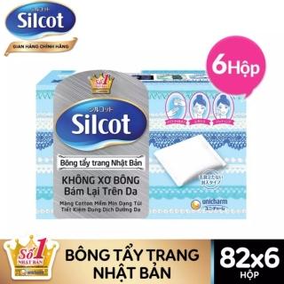 Combo 6 hộp Bông tẩy trang (Bông trang điểm) Silcot 82 miếng hộp thumbnail