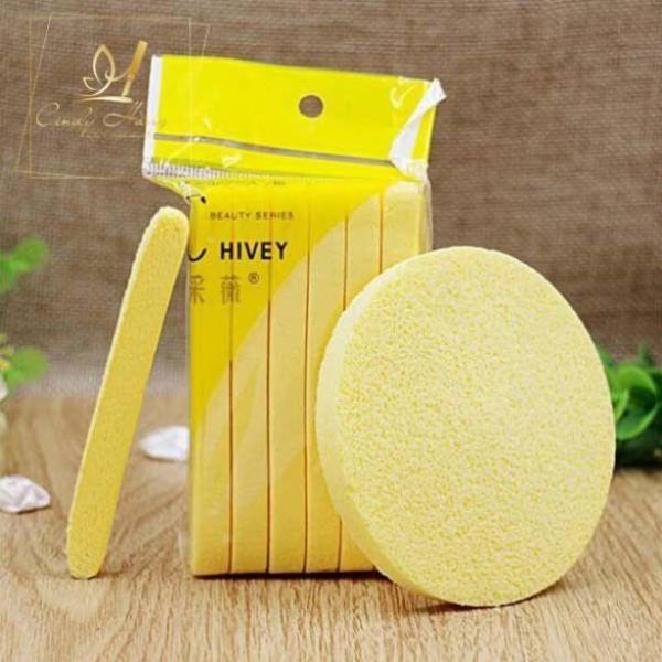 Miếng mút rửa mặt - Bông nở rửa mặt Chivey ( 1 gói 12 thanh )