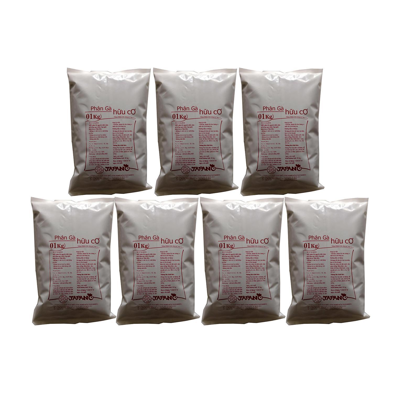 Combo 7 gói Phân bón gà hữu cơ Nhật Bản 1kg