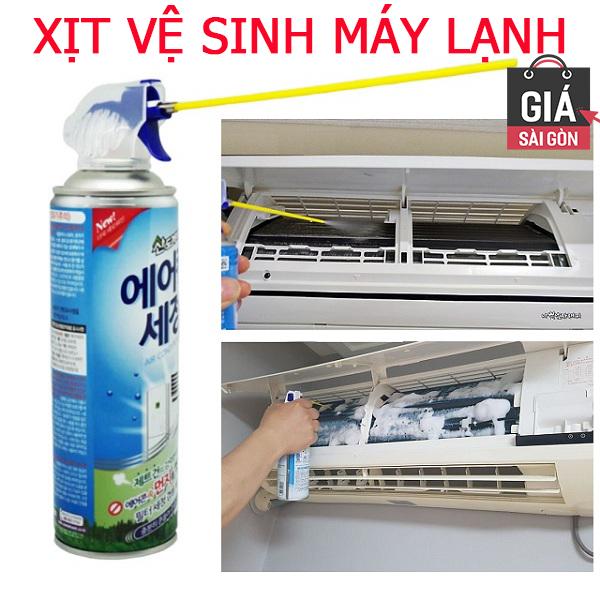Xịt vệ sinh máy lạnh điều hòa Sandokkaebi 330ml - Thương hiệu Hàn Quốc GSG829