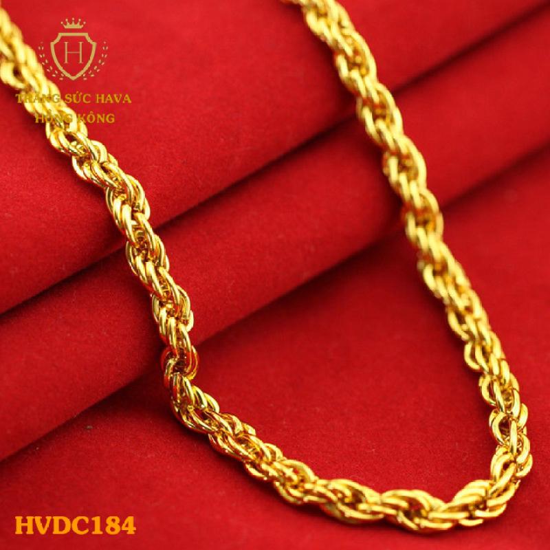 Vòng Cổ, Dây Chuyền Nam Nữ Titan Xi Mạ Vàng 24k (Không Bị Xỉn Đen) - Trang Sức Hava Hong Kong)