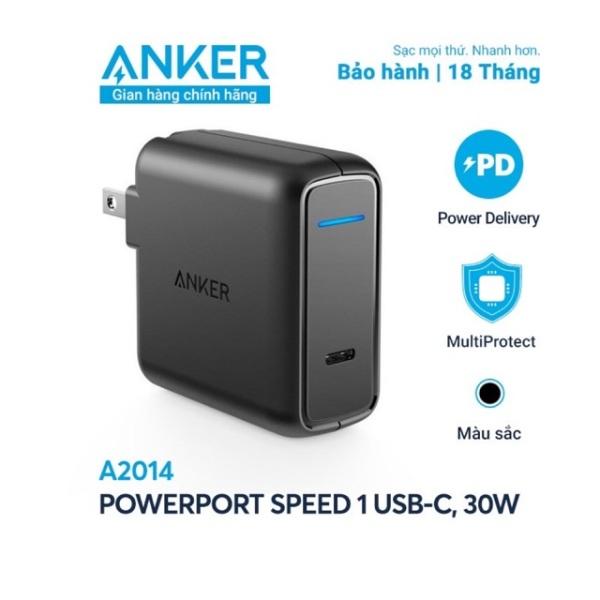 Sạc NHANH Anker 30W QUICK CHARGE 3.0 USB Type-C A2014 NEW 2020 - NoBox Mới 100% ZIN HÃNG 100% - BH 18TH