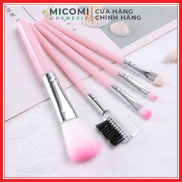 [HCM]Bộ Cọ Trang Điểm Makeup 5 Món Đánh Phấn Mắt / Che Khuyết Điểm / Má Hồng / Kẻ Lông Mày / Tán Kem Nền - MICOMI Cosmetics