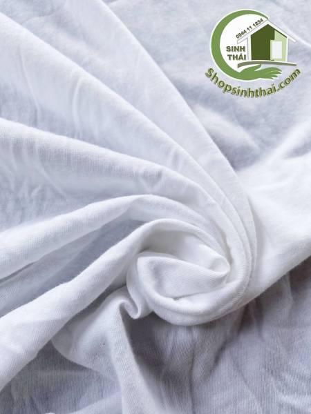 Vải thun co giãn màu trắng [ 1 mét x khổ 1,8 mét ]
