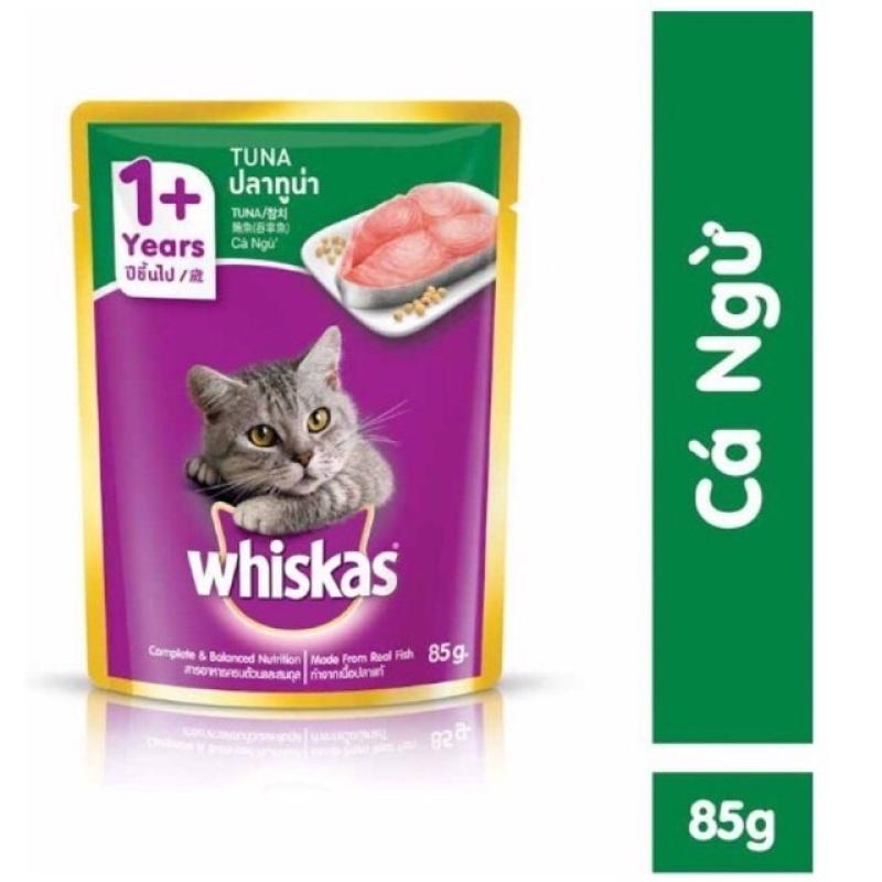 24 gói Pate whikas cá ngừ cho mèo gói 85g