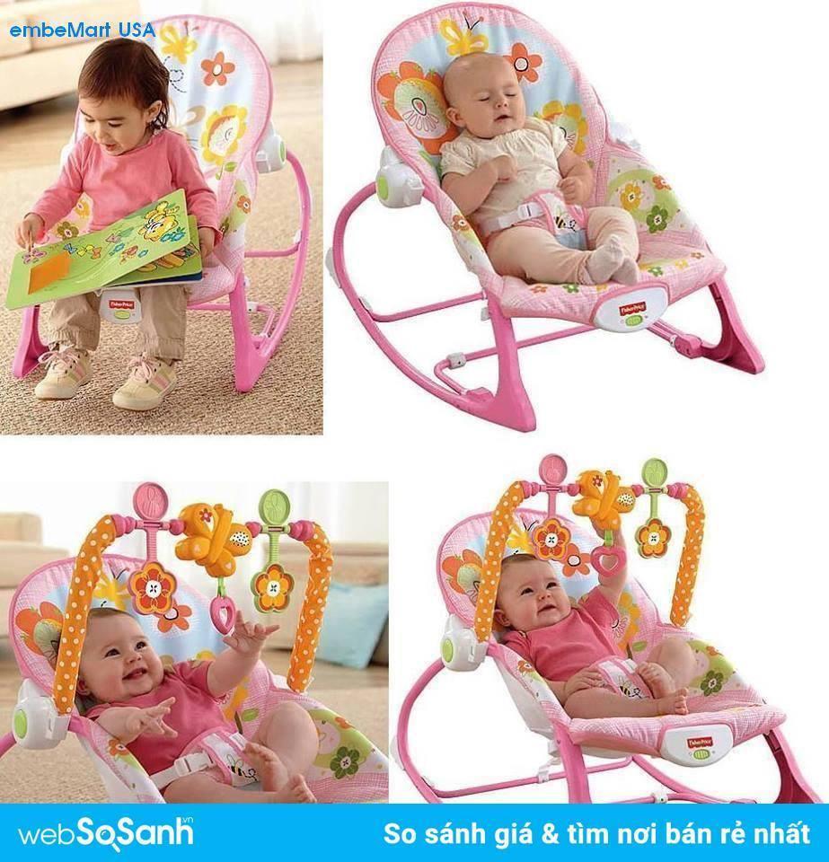 Mã Giảm Giá Ghế Rung Fisher Price X7033/ Y4544  Infant To Toddler Rocker