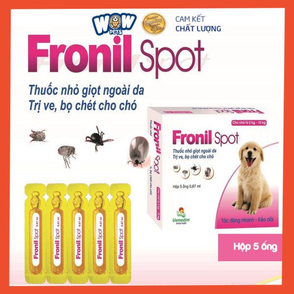 Ống nhỏ gáy ve rận FRONIL SPOT (dùng cho mọi loại chó) [H005] wowpets Thuốc nhỏ gáy bọ chét