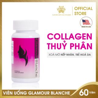 Viên Uống Collagen Thuỷ Phân Chiết Xuất Cô Đặc, Làm Đẹp Da An Toàn - GLAMOUR BLANCHE Nature Gift USA (60 viên) thumbnail