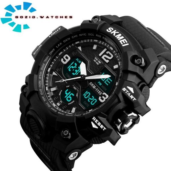 Đồng hồ điện tử nam thể thao chính hãng SKMEI 1155B thể thao đa chức năng siêu bền SM25 -Gozid.watches