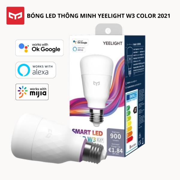 [NEW 2021] Bóng đèn Led thông minh Xiaomi Yeelight Bulb W3 đui xoắn E27 (RGB 16 triệu màu) - tích hợp Razer Chroma