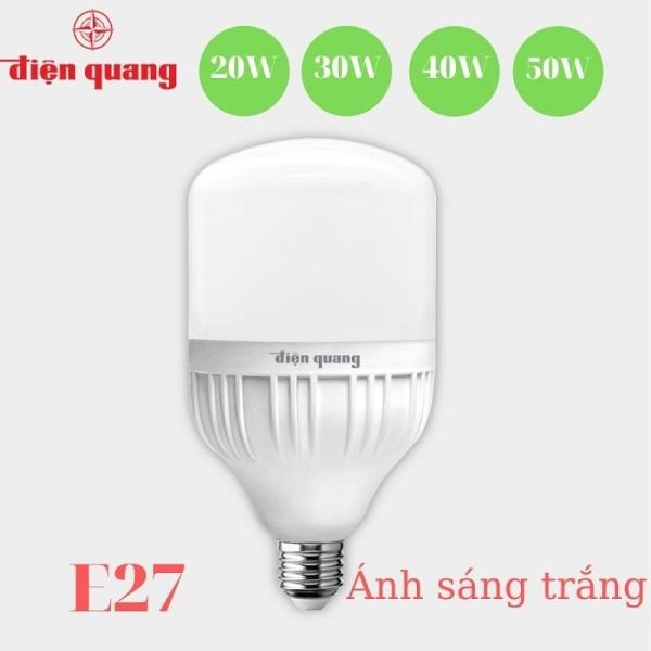 Bóng đèn Led trụ [ HÀNG ĐIỆN QUANG ]  bup trụ bulb ( 20W - 30W - 40W - 50W TỦ THỌ 20.000 H ) Đèn led siêu sáng tiết kiệm điện kín chống nước,  Bóng đèn Led Điện Quang bulb trụ nhựa tráng nhôm tản nhiệt
