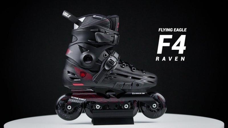 Phân phối Giày trượt patin - Siêu phẩm giày patin Flying Eagle cao cấp F4 màu đen (size từ 39 đến 44)