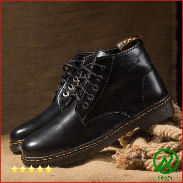 Giày Boot Nam Cổ Lửng Đế Khâu Da Trơn Cực Chất - M354 giá rẻ