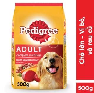 Thức ăn chó trưởng thành Pedigree vị thịt bò & rau củ 500g thumbnail