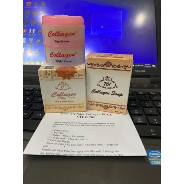 Bộ 3 Món Collagen Plus Vit E 701 Cao Cấp Tem Nâu T r ị N á m Nặng giá rẻ