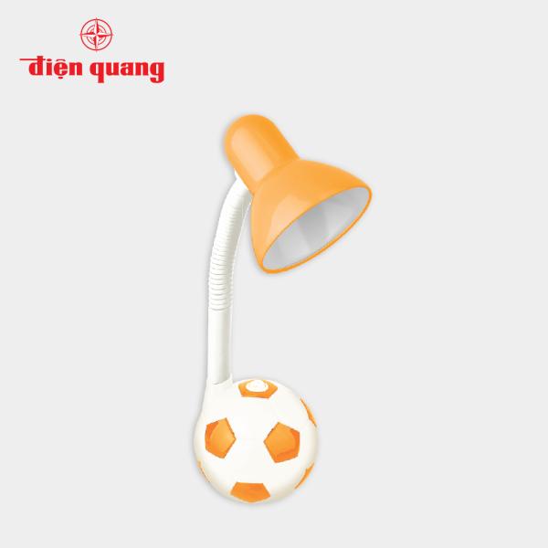 Đèn bàn Điện Quang ĐQ DKL01 OW B (kiểu trái banh, cam trắng, có bóng)