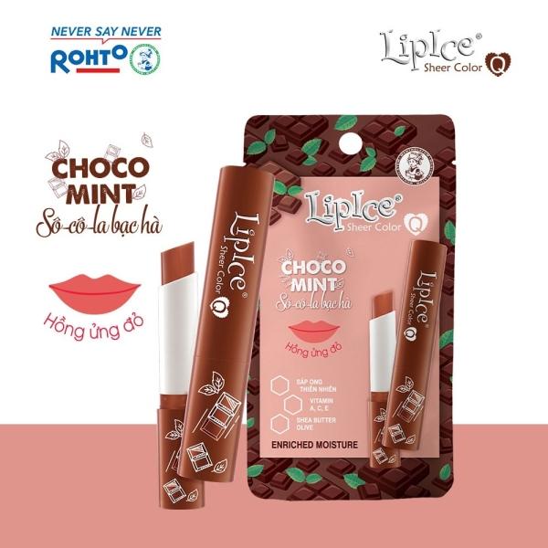 Son dưỡng Lipice Sheer Color Q Choco Mint 2.4g (Hồng ửng đỏ - hương Socola Bạc Hà)