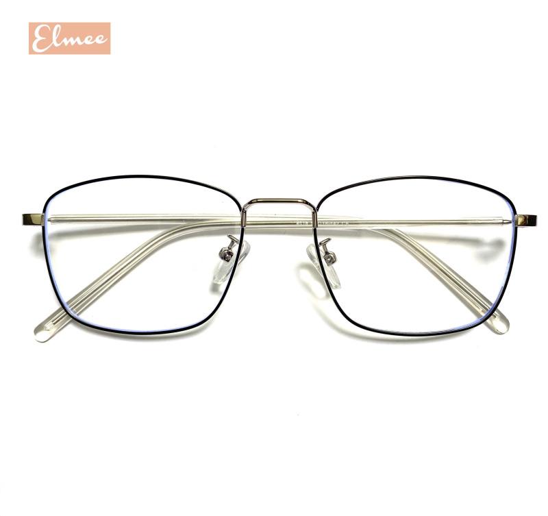 Giá bán Gọng kính cận dáng vuông Elmee - kính mắt nam nữ gọng kim loại cao cấp, có cắt mắt cận