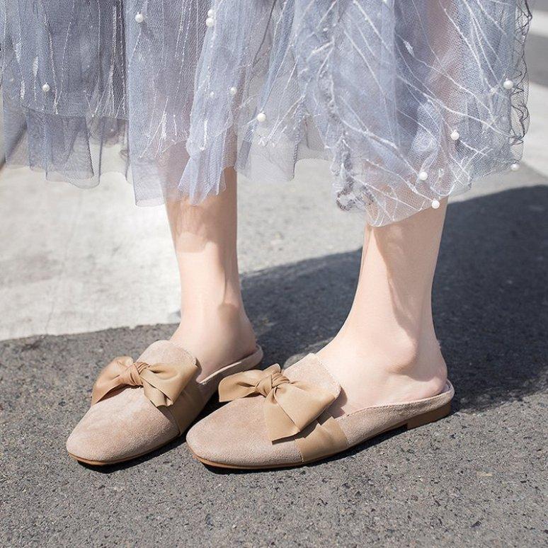 [HÀNG MỚI VỀ] Giày sục nữ hoa nơ to bản nữ tính - G033 giá rẻ